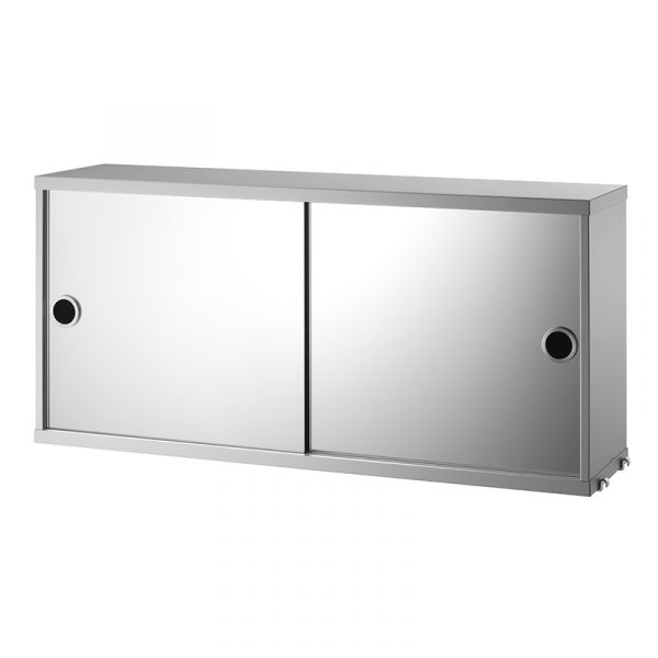 String System Cabinet With Mirror Doors