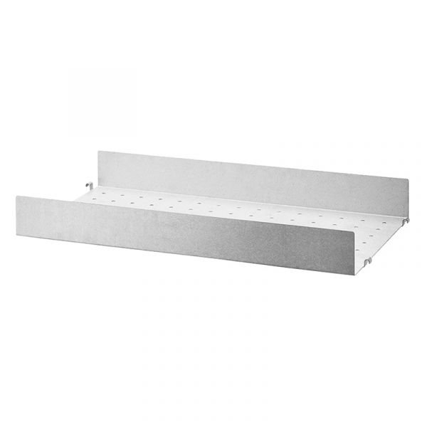String System Metal Shelf High Edge 58x30cm Galvanized