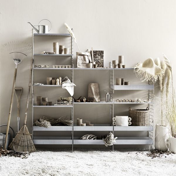 String Shelving System Galvanized Outdoor 01