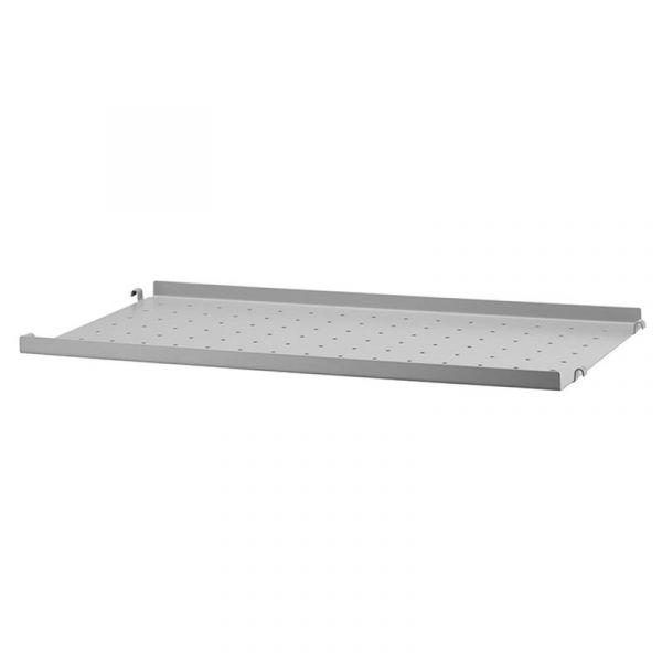String System Metal Shelf Low Edge 58x30 Grey