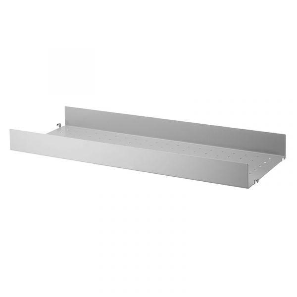 String System Metal Shelf High Edge 78x30 Grey