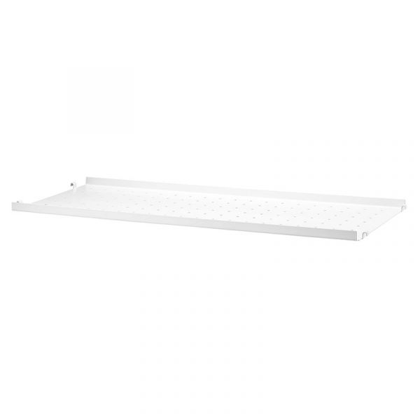 String System Metal Shelf Low Edge 78x30 White
