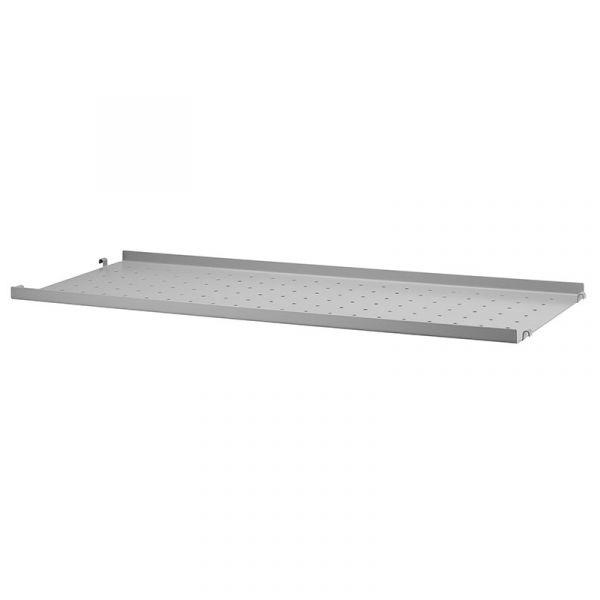 String System Metal Shelf Low Edge 78x30 Grey