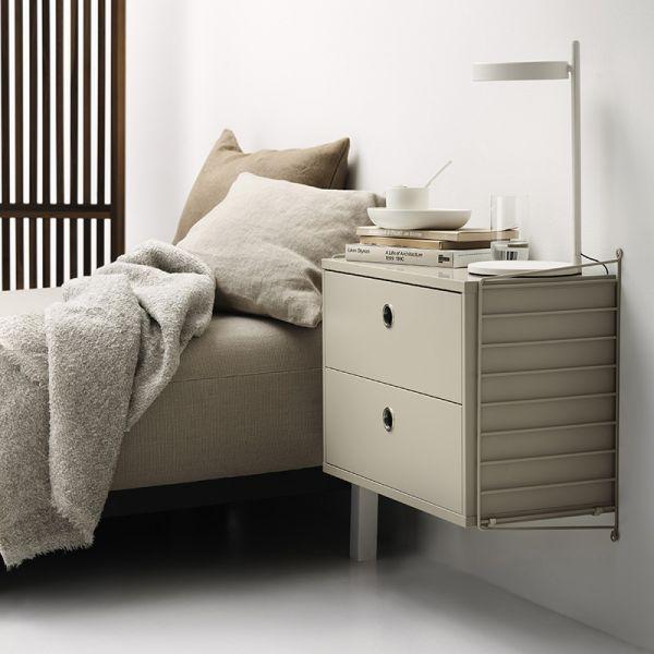 String Shelving System Bedroom 01