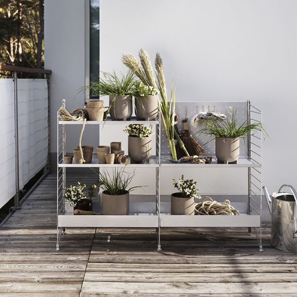 String Shelving System Free Standing Galvanized Outdoor 01