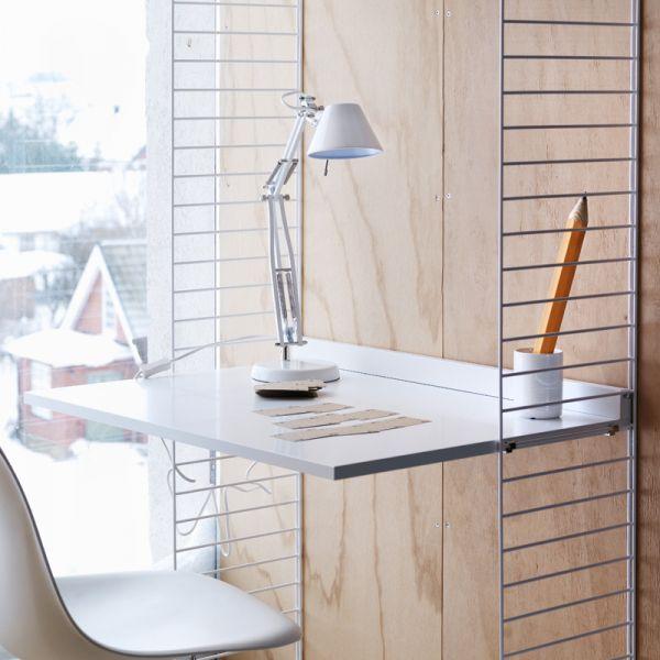 String System Work Desk Shelf White