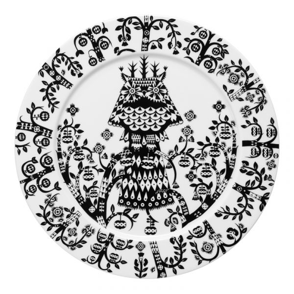 iittala Taika Plate x6 Black 27cm