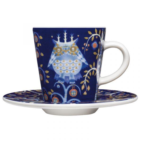 iittala Taika Espresso Cup And Saucer Set of Six Blue