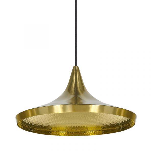 Tom Dixon Beat Wide LED Pendant Light Brass