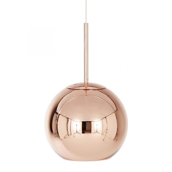 Tom Dixon Copper Round LED Pendant Light 25cm