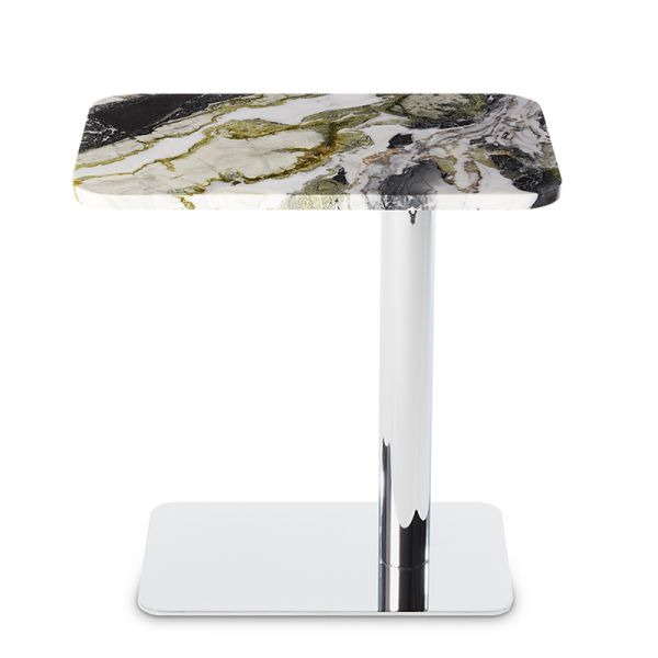 Tom Dixon Flash Table Rectangle Chrome Base Primavera Marble