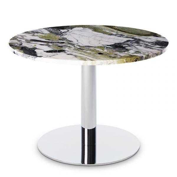 Tom Dixon Flash Table Circle Chrome Base Primavera Marble