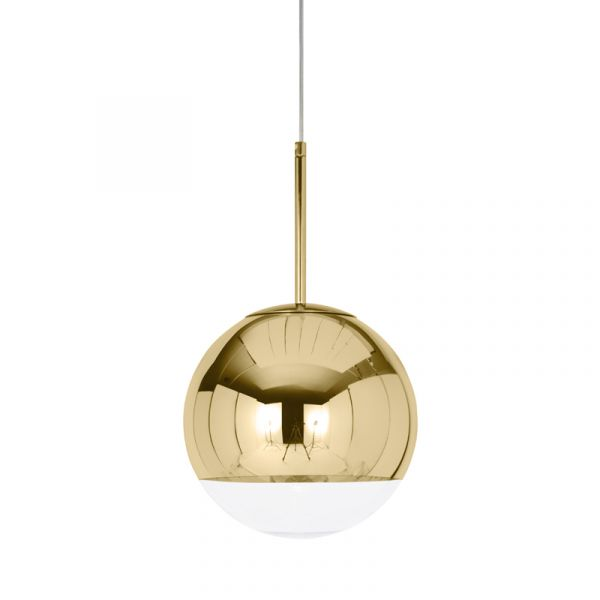 Tom Dixon Mirror Ball LED Pendant Light Gold 25cm