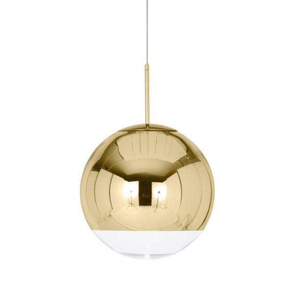 Tom Dixon Mirror Ball LED Pendant Light Gold 40cm