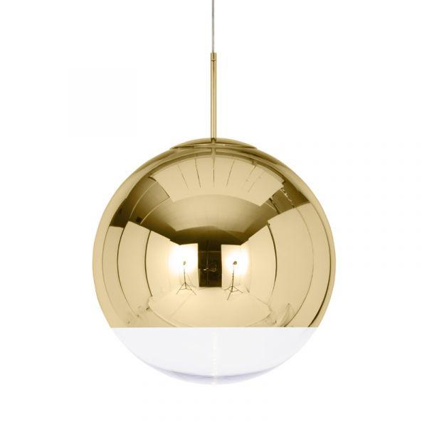 Tom Dixon Mirror Ball LED Pendant Light Gold 50cm