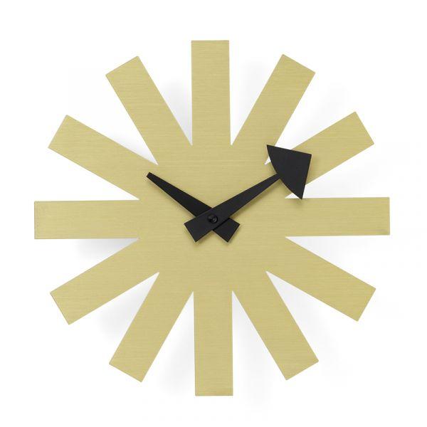 Vitra Asterisk Wall Clock Brass