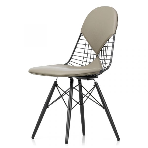 Vitra Eames DKW-2 Wire Chair with Seat & Back Pads