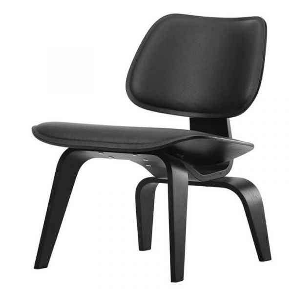 Vitra Eames LCW Leather Plywood Group Lounge Chair