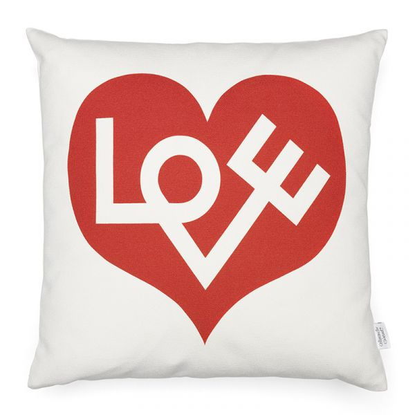 Vitra Graphic Print Pillows Love Heart Crimson