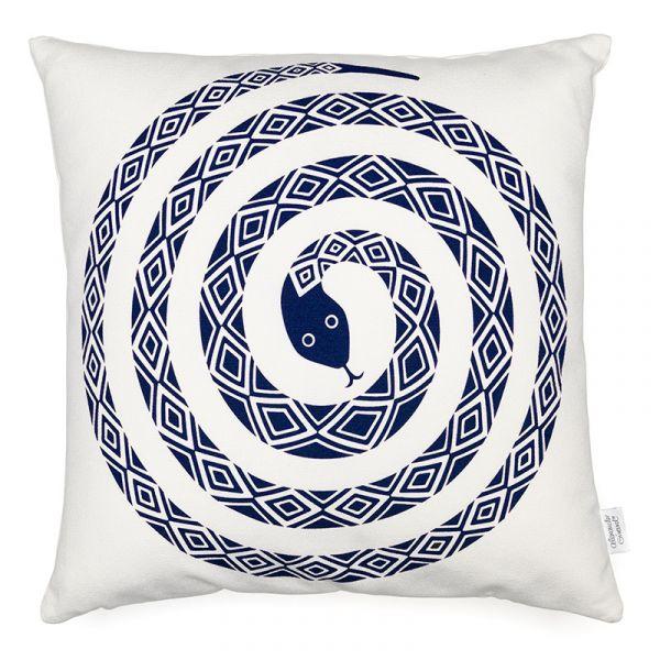 Vitra Graphic Print Pillows Snake Ultramarine