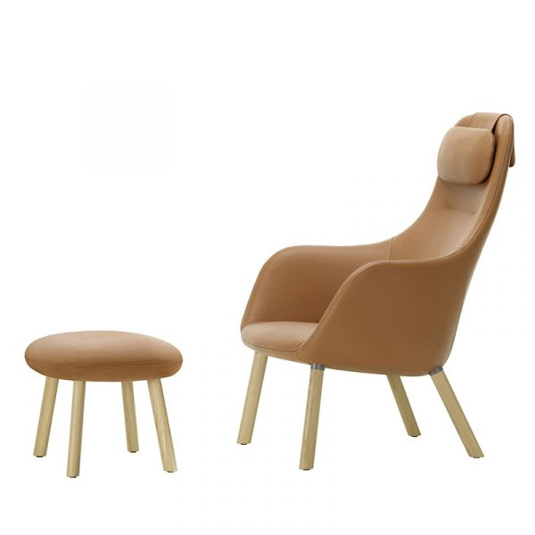 Vitra HAL Lounge Chair & Ottoman With Integrated Seat Cushion