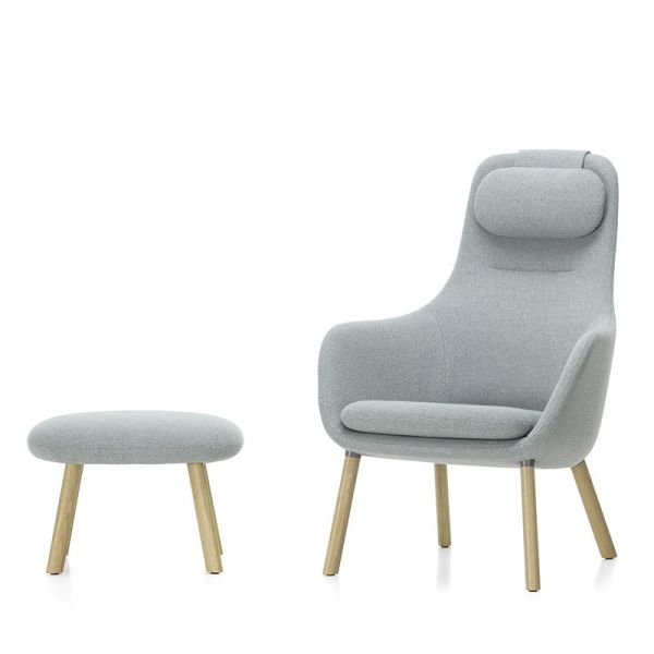 Vitra HAL Lounge Chair & Ottoman With Loose Seat Cushion