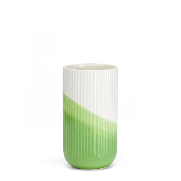 Vitra Herringbone Vessels Vase Ribbed Green