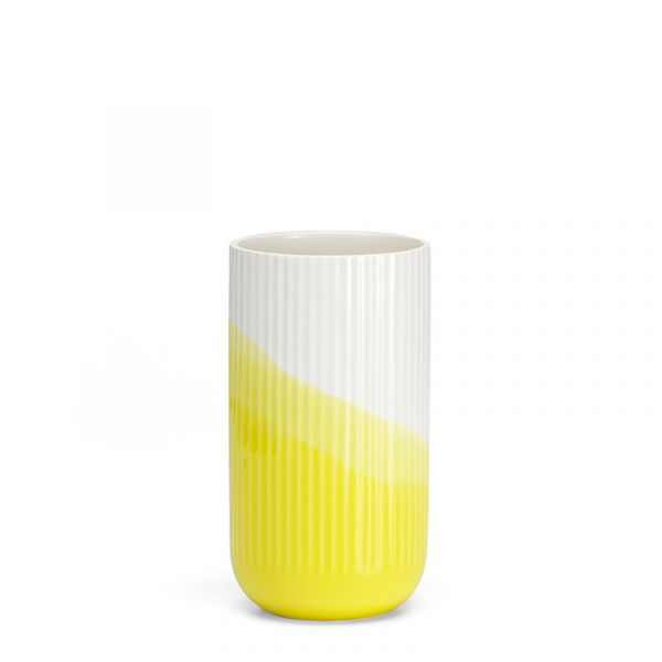 Vitra Herringbone Vessels Vase Ribbed Yellow