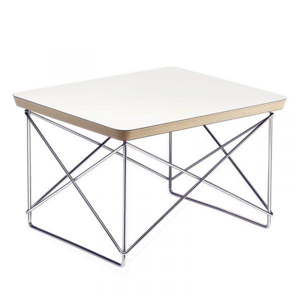 Vitra LTR Occasional Table White HPL Laminate Base Chromed