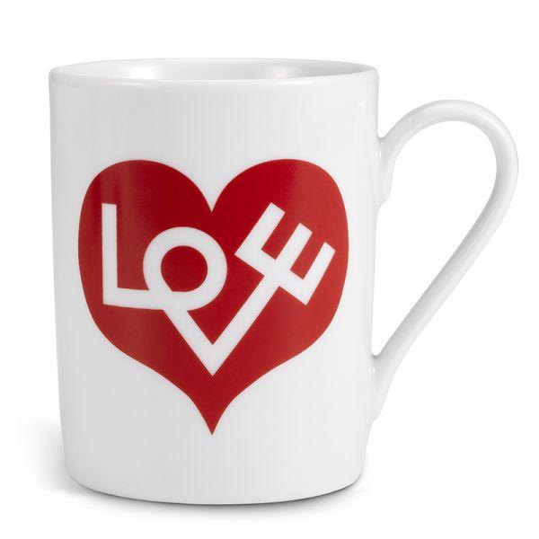 Vitra Love Heart Mug Crimson