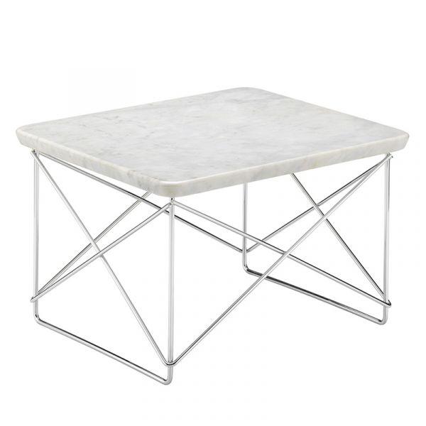 Vitra LTR Occasional Table Marble Base Chromed