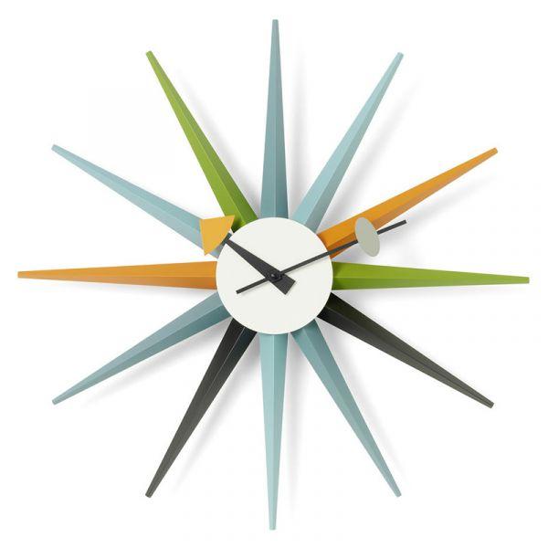Vitra Sunburst Wall Clock Sunburst Multi Coloured