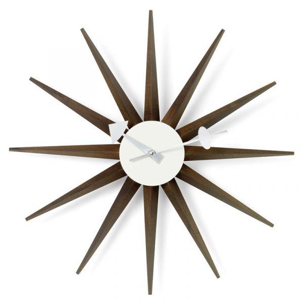 Vitra Sunburst Wall Clock Sunburst Walnut
