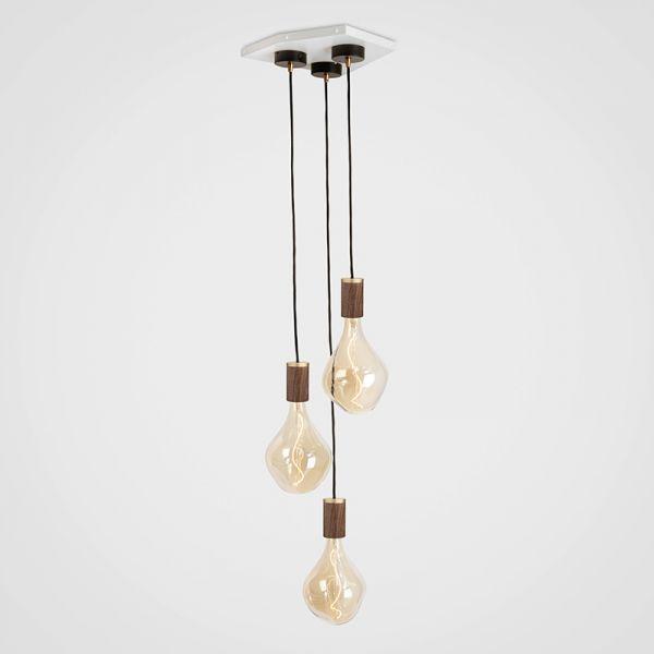 Tala Voroni II Walnut Pendant Light