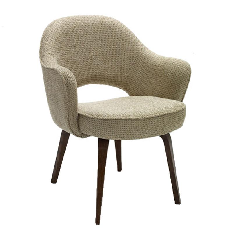 knoll saarinen conference armchair wood legs