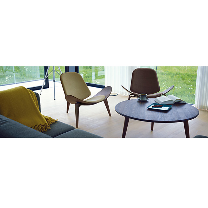 Wegner Ch008 Coffee Table: Carl Hansen CH008 Coffee Table 78cm Diameter