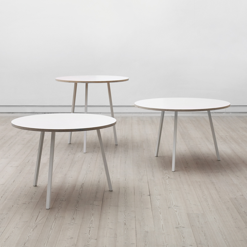 hay loop stand round table. Black Bedroom Furniture Sets. Home Design Ideas