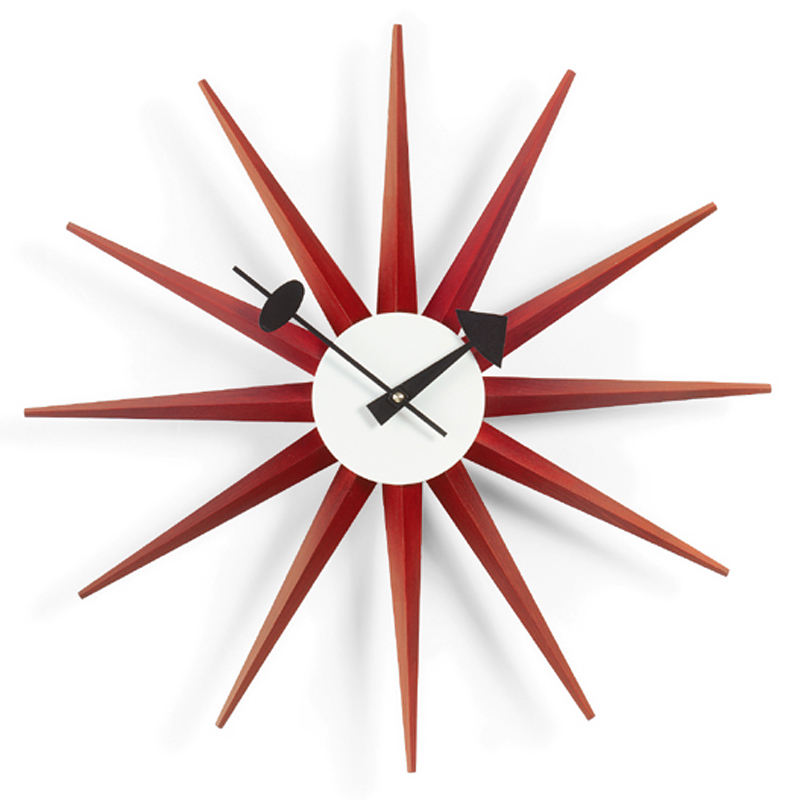vitra sunburst wall clock. Black Bedroom Furniture Sets. Home Design Ideas