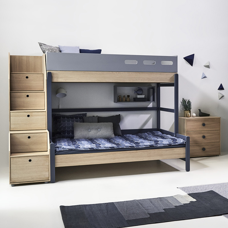 flexa popsicle euro family bed with staircase kiwi. Black Bedroom Furniture Sets. Home Design Ideas