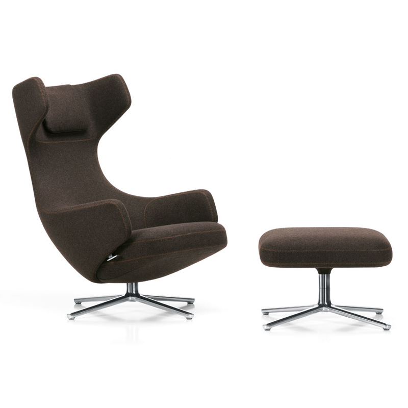 vitra grand repos lounge chair ottoman. Black Bedroom Furniture Sets. Home Design Ideas