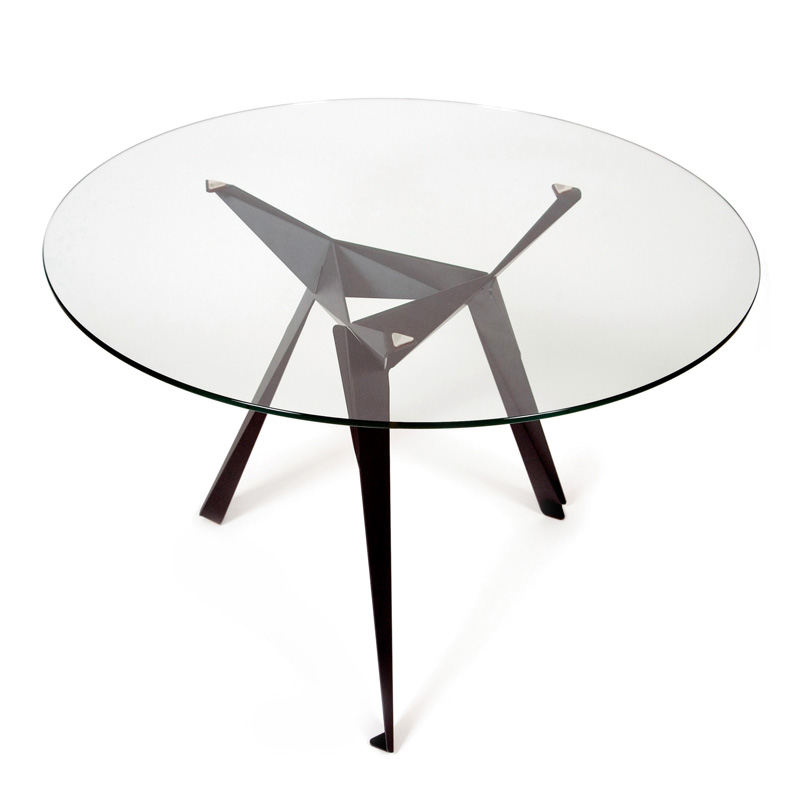 Innermost origami round dining table 110cm for 110cm round glass dining table