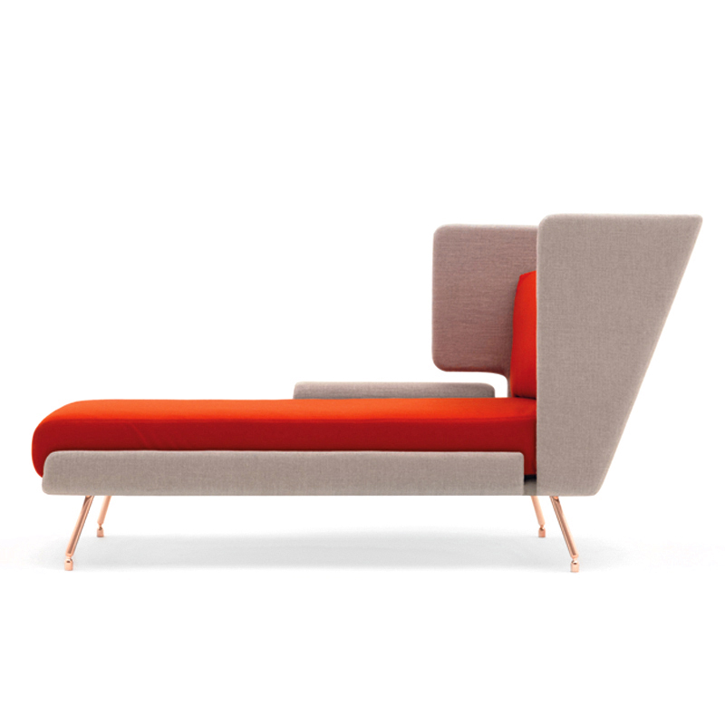 knoll a a chaise longue. Black Bedroom Furniture Sets. Home Design Ideas