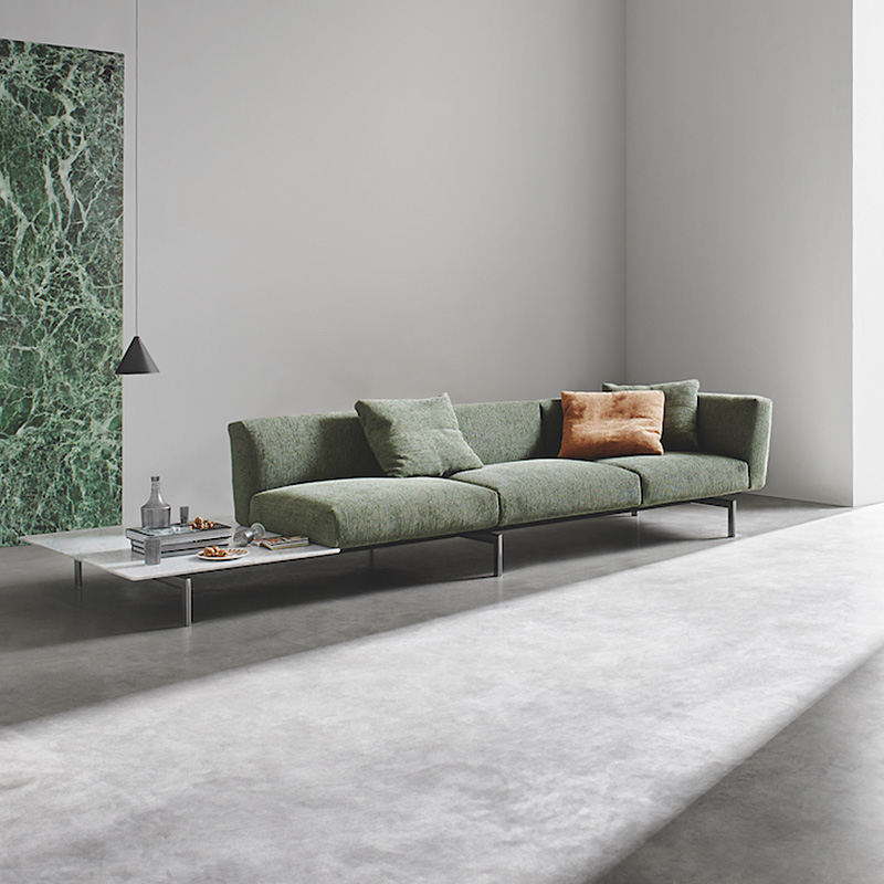Knoll Avio 3 Seat Sofa With L Shape End Table Statuarietto