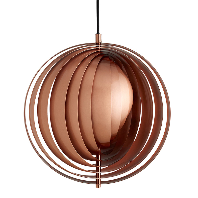 Verpan Moon Pendant Light Small Copper 34cm