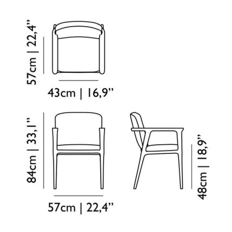 Dining Room Chair Dimensions: Moooi Zio Dining Chair