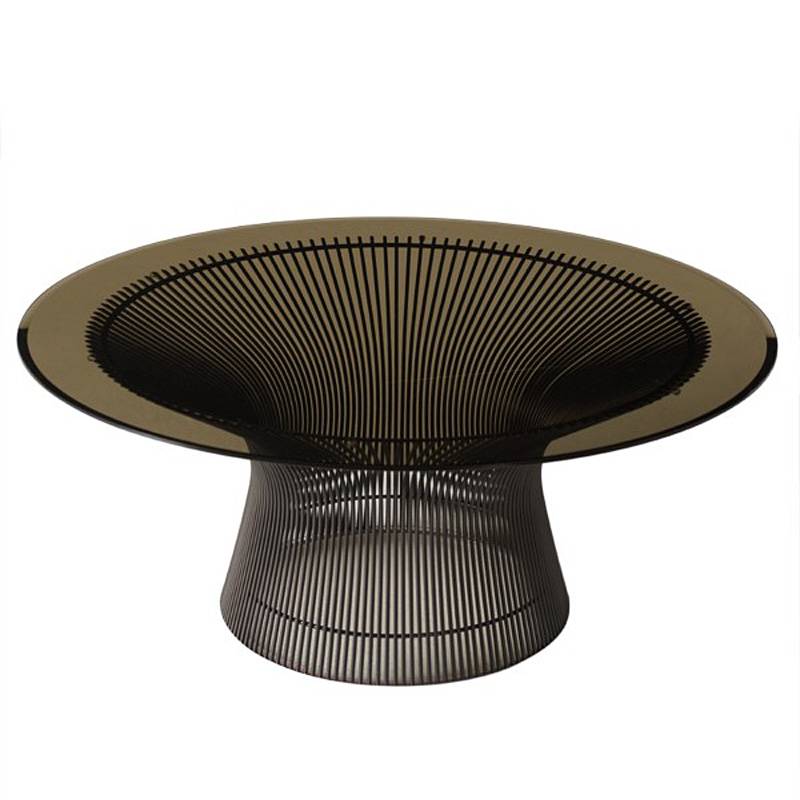 Knoll warren platner coffee table bronze for Warren platner coffee table