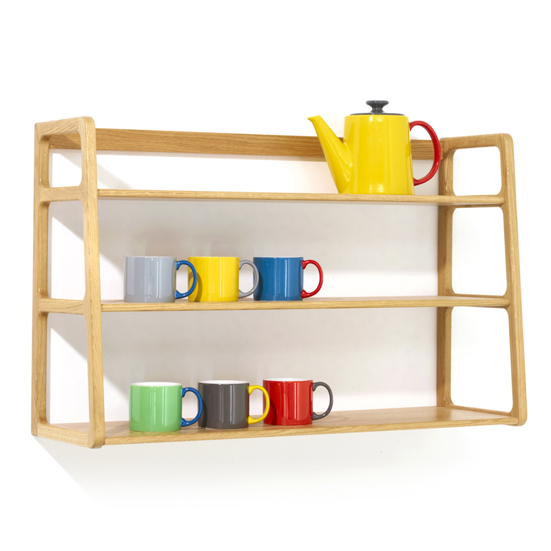 scp ks016 agnes wall mounted shelving unit oak. Black Bedroom Furniture Sets. Home Design Ideas