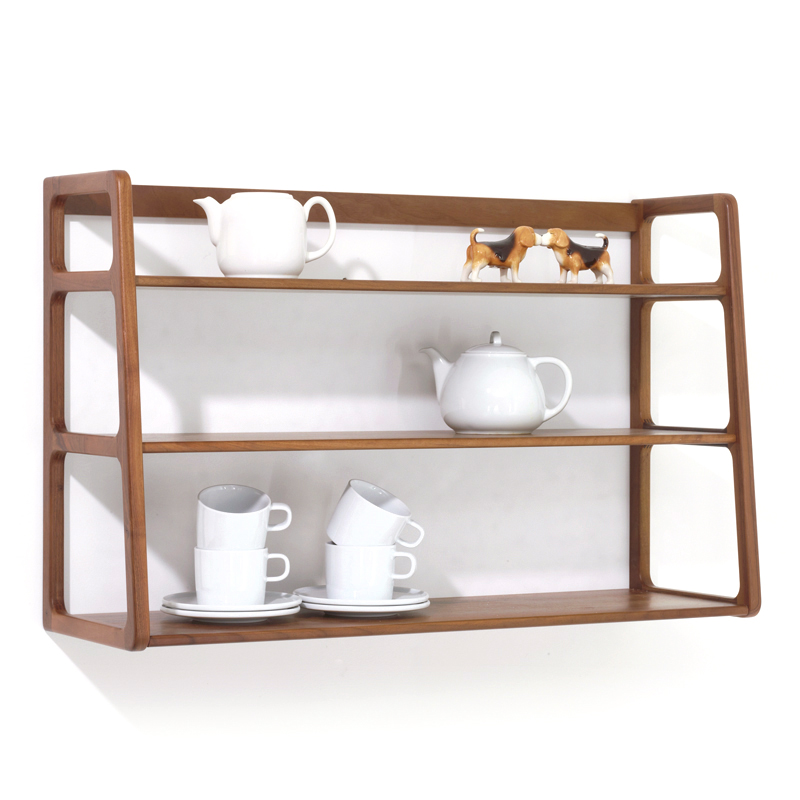 scp ks017 agnes wall mounted shelving unit walnut. Black Bedroom Furniture Sets. Home Design Ideas