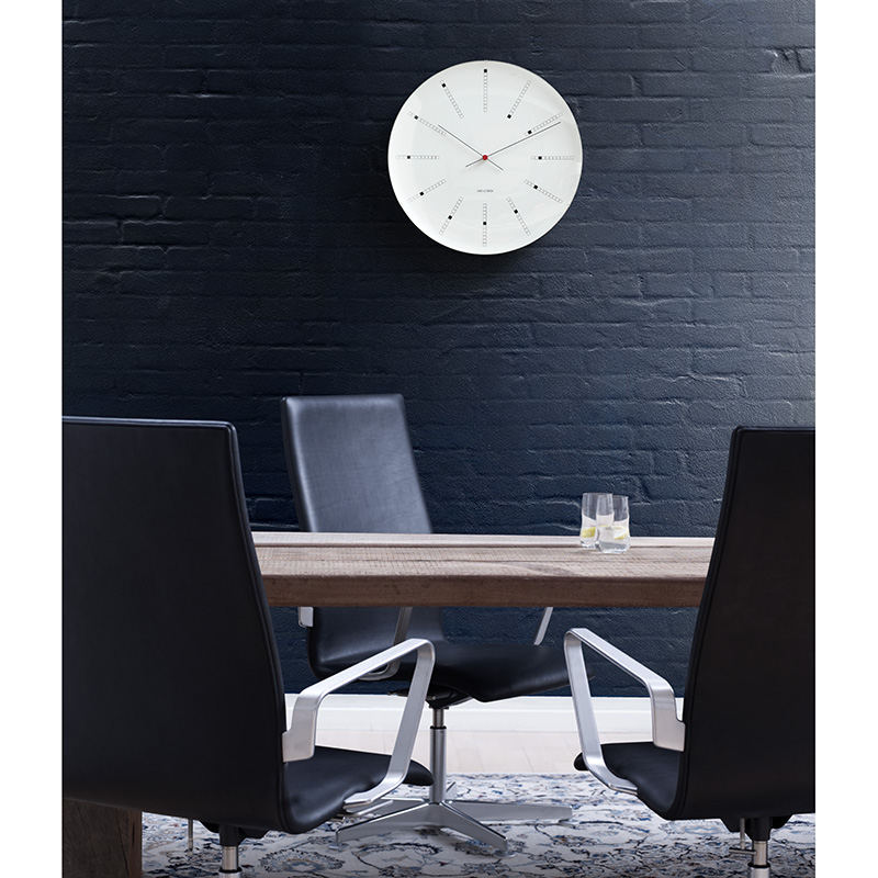 rosendahl arne jacobsen bankers wall clock 48cm. Black Bedroom Furniture Sets. Home Design Ideas